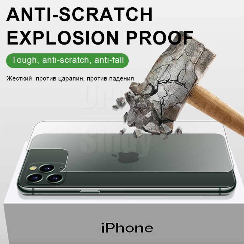 2-1 個バックフルカバー強化ガラス Iphone 5 8 プラス 11 プロマックススクリーンプロテクター IPhone × XR XS 最大保護ガラス