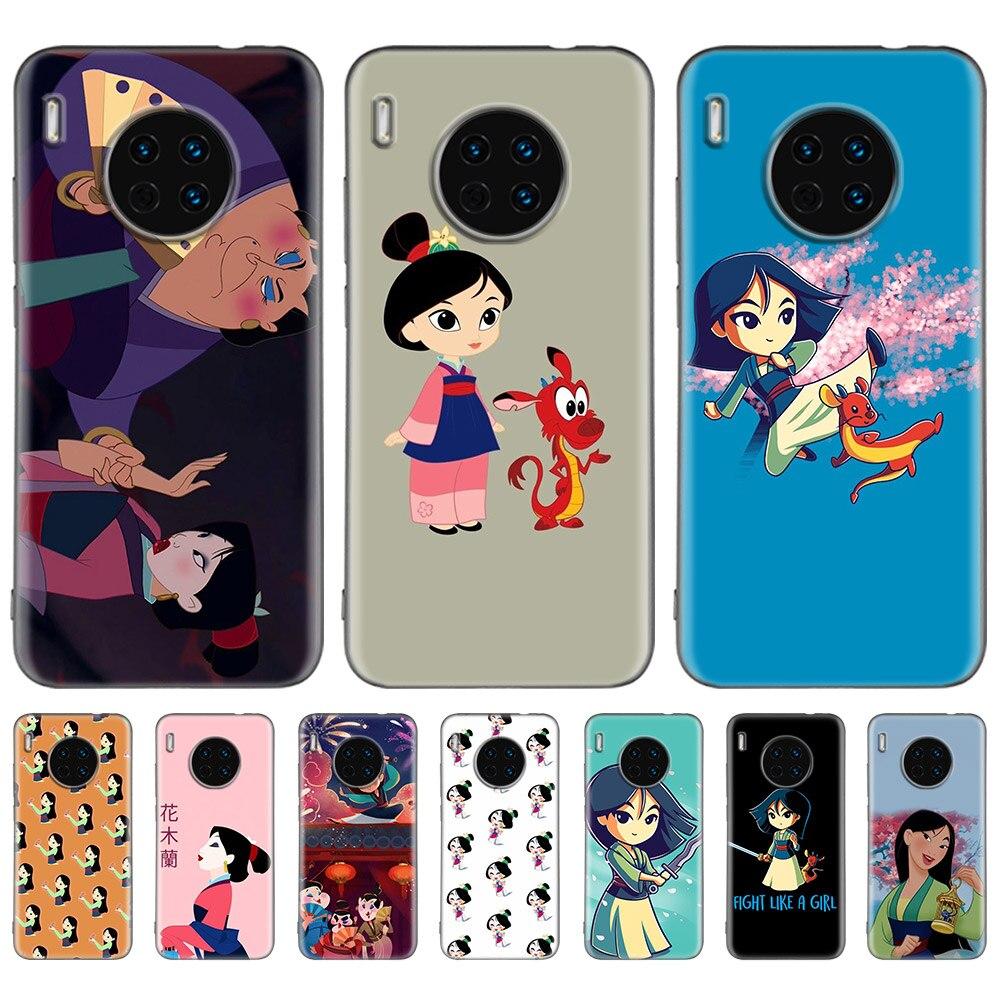 Mulan Cartoon Cases For Huawei Mate 30 Pro 5G 20 10 Lite Nova 5 5I 5T P20 Mate30 Black Silicone Fall Phone Coque Casos