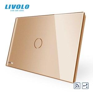 Image 4 - Livolo US C9Standard مفتاح حائط يعمل باللمس ، مقاطعة مع مؤشر LED ، جهاز التحكم عن بعد ، لوحة زجاج كريستال
