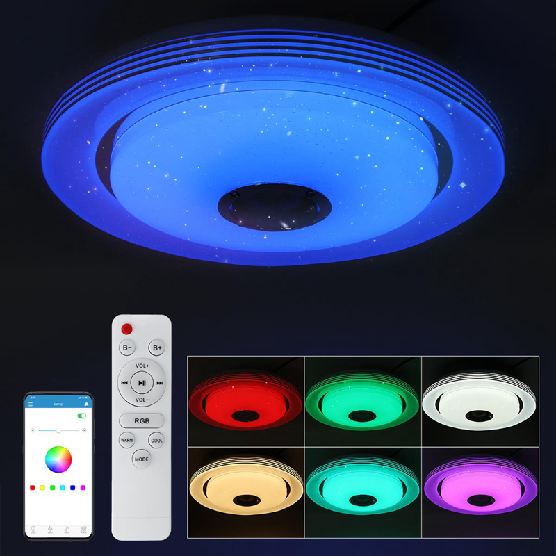 Luminária de teto led rgb ajustável, 36w