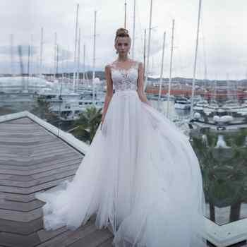 See Through Tulle Back Luxury Wedding Dress Plus Size Abito Da Sposa Lace Appliques Bride Gowns Bridal Dresses Vestidos De novia - DISCOUNT ITEM  30% OFF All Category