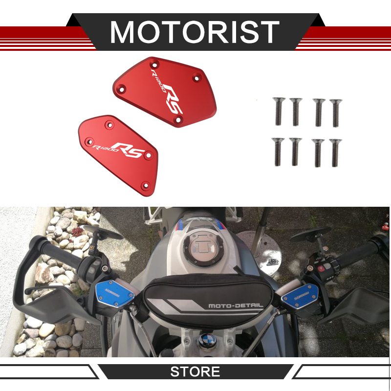 One pair of CNC aluminum alloy motorcycle brake fluid fuel tank oil tank cap FOR <font><b>BMW</b></font> R1200RS R <font><b>1200RS</b></font> R1200 RS 2014-2018 image