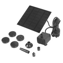 Solar Panel Power Water Pump Fountain Pump Kit For Outdoor Pool Garden Pond Submersible Square Watering Pump Quick Start kary 24 volt dc solar water pump submersible solar pump for pond fountain