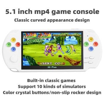 Nueva consola de videojuegos de moda en color de 5,1 pulgadas builde in 9500 los juegos se pueden archivar/Añadir/eliminar diccionario mp3 mp4 e-book HDMI