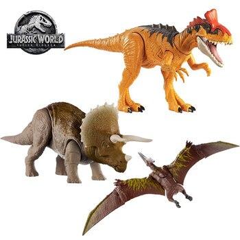 Jurassic World Sound Effects Dinosaur Toys Action Figure Triceratops Cryolophosaurus Pterodactyl Toys for Children Figure Gifts jurassic world dinosaurs toys mini joints tyrannosaurus figures boys toys figuras dinosaur toys for children action figure gifts