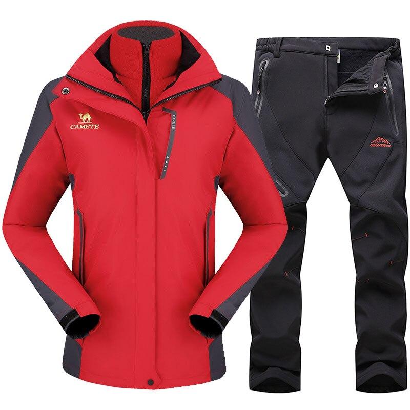 Ski Suit For Women Outdoor Sports Ski Jackets Waterproof Windproof Snowboard Jacket Pants Winter Snow Skiing Fleece Clothes Sets