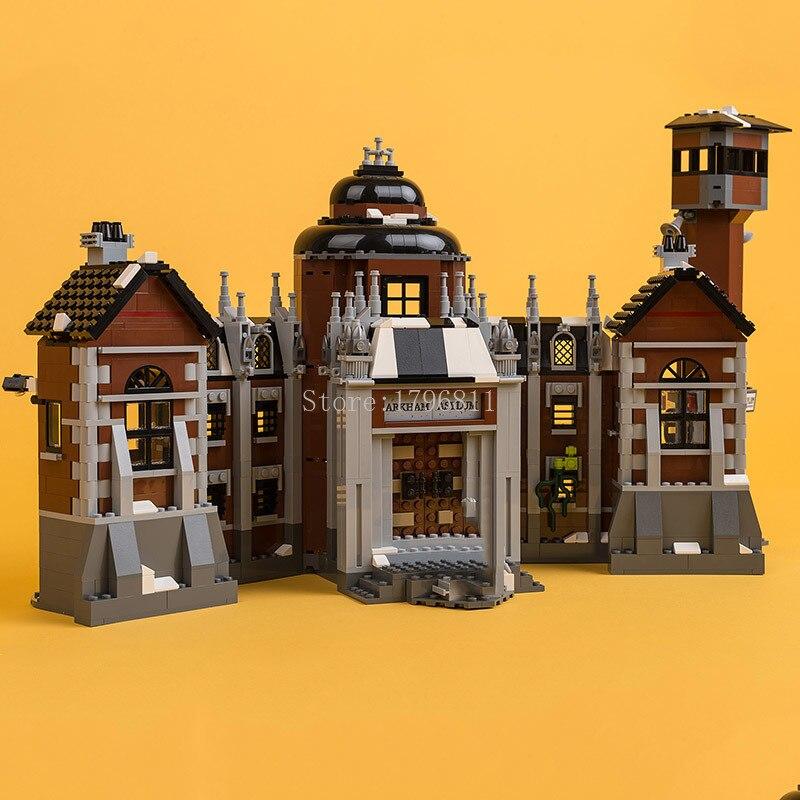 In Stock 07055 1706pcs Arkham Asylum Series Building Blocks Bricks Children's Gift Compatible With 70912