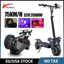 Magazynu-W-europa 2000W deskorolka elektryczna off road 10 cal szeroki silnik piasty koła pełne zawieszenie składany skuter skuter dla dorosłych