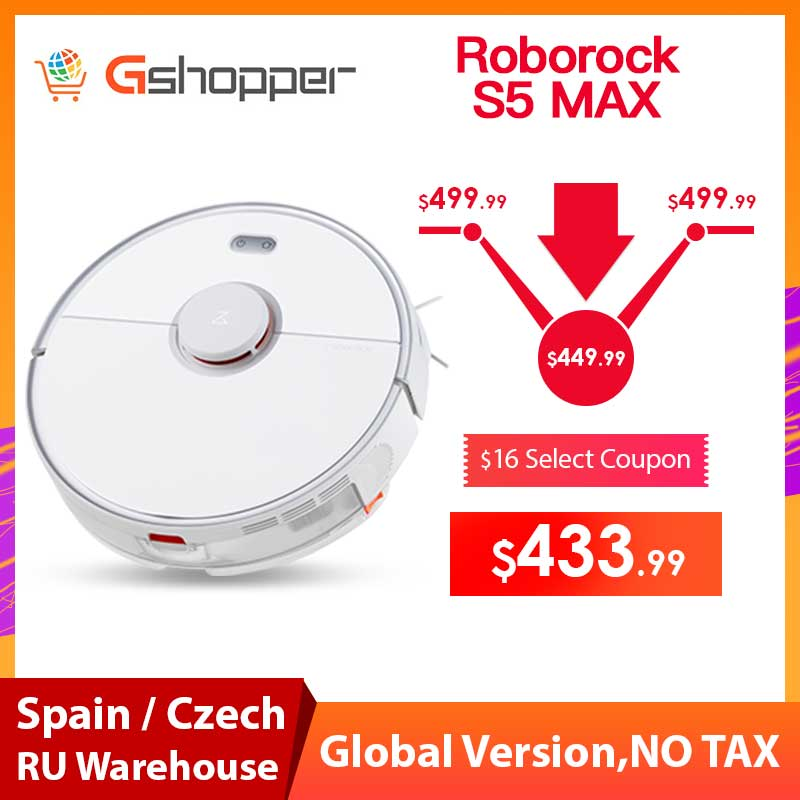 2019 New Arrival Roborock S5 Max Robot Vacuum Cleaner Xiaomi Mijia S5max cordless for home upgrade of S50 S55 collect pet hairs image