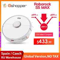 2019 New Arrival Roborock S5 Max Robot Vacuum Cleaner Xiaomi Mijia S5max cordless for home upgrade of S50 S55 collect pet hairs
