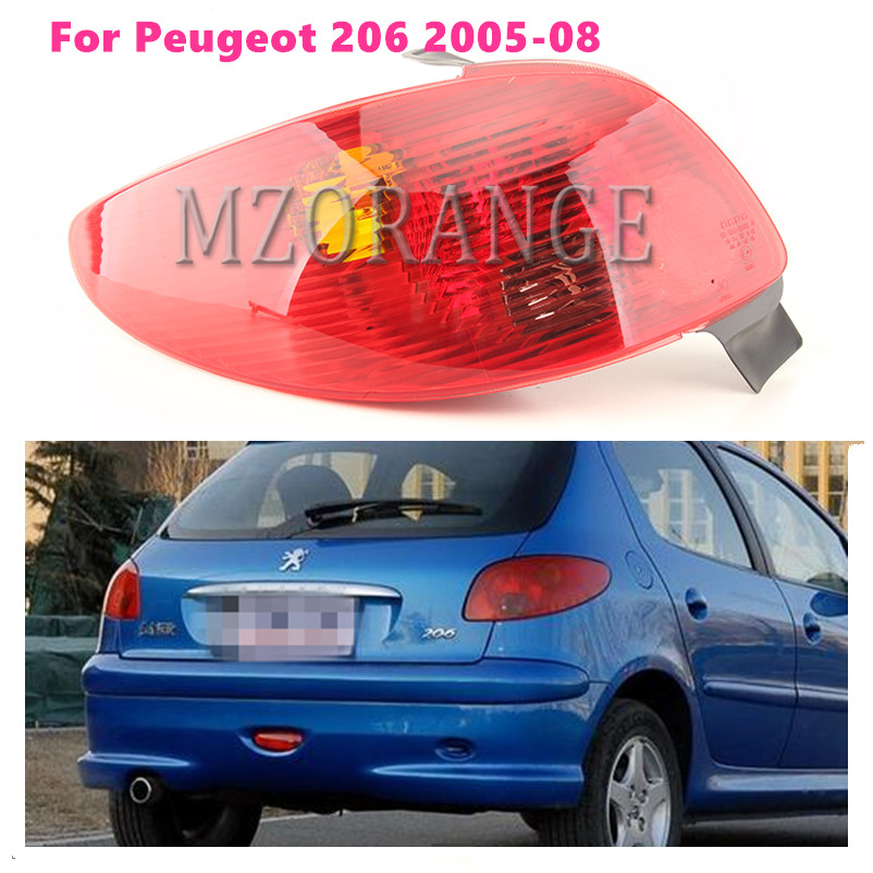 Rear Tail Light Signal Lamp Cover For Peugeot 206 2005 2006 2007 2008 Reflector Warning Stop Braking Light Cover Car Styling