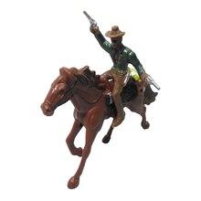 Запад Ковбой на Лошади Люди Модель Экшн Фигурки Дети Игрушка Подарки Дом Декор