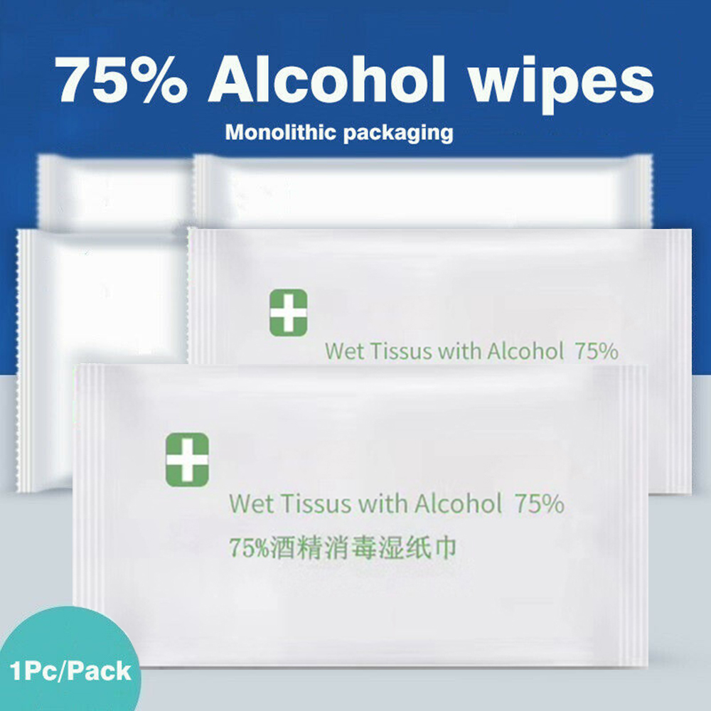 HOT Disposable 75% Alcohol Wet Wipe Non-woven Effective Disinfection Skin Cleaning Care Sterilization Wet Wipes