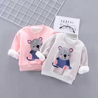 IENENS Baby Girl Warm Clothes Winter Padded Pullover Clothing Toddler Infant Boy Sweatshirts Cartoon Koala T-shirt 1 2 3 4 Years