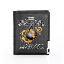 Крутой тематический кошелек морской пехоты США из искусственной