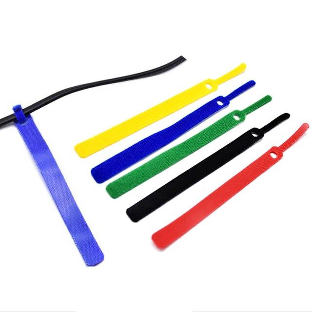 Фото 50 шт многоразовые цветные кабельные стяжки прямого типа нейлоновые цена