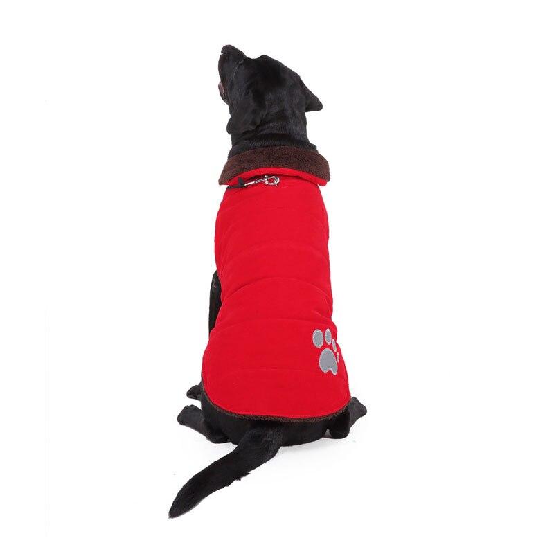 BDTHOOO, хлопок, S-XXL, зимнее пальто для собак, жилет для питомцев, кошек, щенков, теплые пуховики, одежда для домашних животных - Цвет: red