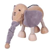3D деревянные милые животные строительные блоки декоративная кукла маленькая модель животного обучающая игрушка для детей статуя животного Ele