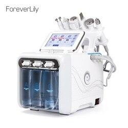 6 em 1 hidro portátil dermabrasion cuidados com a pele máquina da beleza água jato de oxigênio casca de diamante microdermabrasion