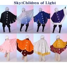 Céu do jogo: luz aguarda cosplay traje céu: crianças de roupas de luz fantasia terno manto calças superiores halloween carnaval uniformes