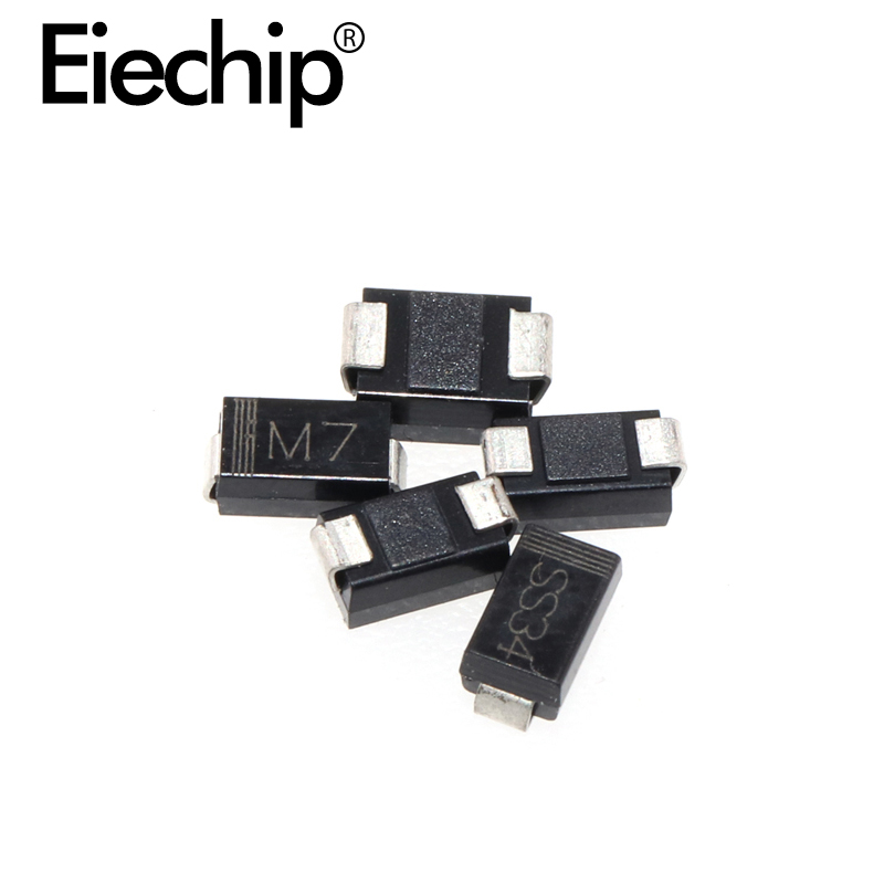 1N4001 1N4002 1N4004 1N4007 1N5819 1N5822 1N5824 SMD Rectifier <font><b>diode</b></font> SMA package for various PCB boards image