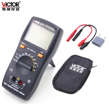 VICTOR VC6243 high-precision digital inductance capacitance meter 0-1000uf Inductance Digital Capacitance 1mH-20H