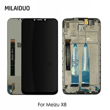 цены на LCD Display For Meizu X8 X 8 Touch Screen Digitizer Assembly Replacement Black No/with Frame For Meizu X8 X 8 LCD Screen 6.2
