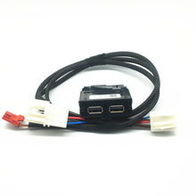 Assento traseiro duplo usb carregador adaptador interruptor armerst cabo usb cablagem para vw tiguan 2 mk2 teramont octavia superb kodiaq