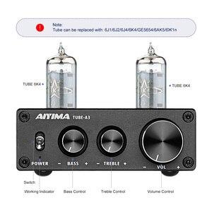 Image 2 - AIYIMA 6K4 튜브 앰프 담즙 프리 앰프 HIFI 프리 앰프 고음 저음 조정 오디오 프리 앰프 DC12V 앰프 스피커 용