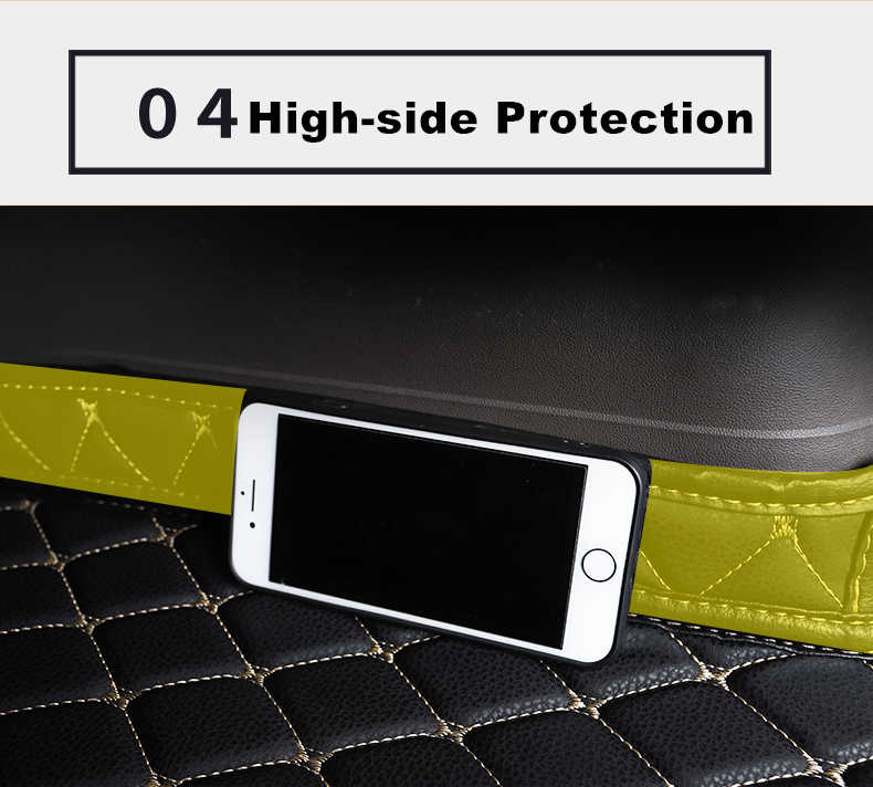 SJ High Side Waterproof Car Trunk Mat AUTO Tail Boot Tray Liner Cargo Rear Pad PartS Accessories For SKODA Octavia 2010 11-2019