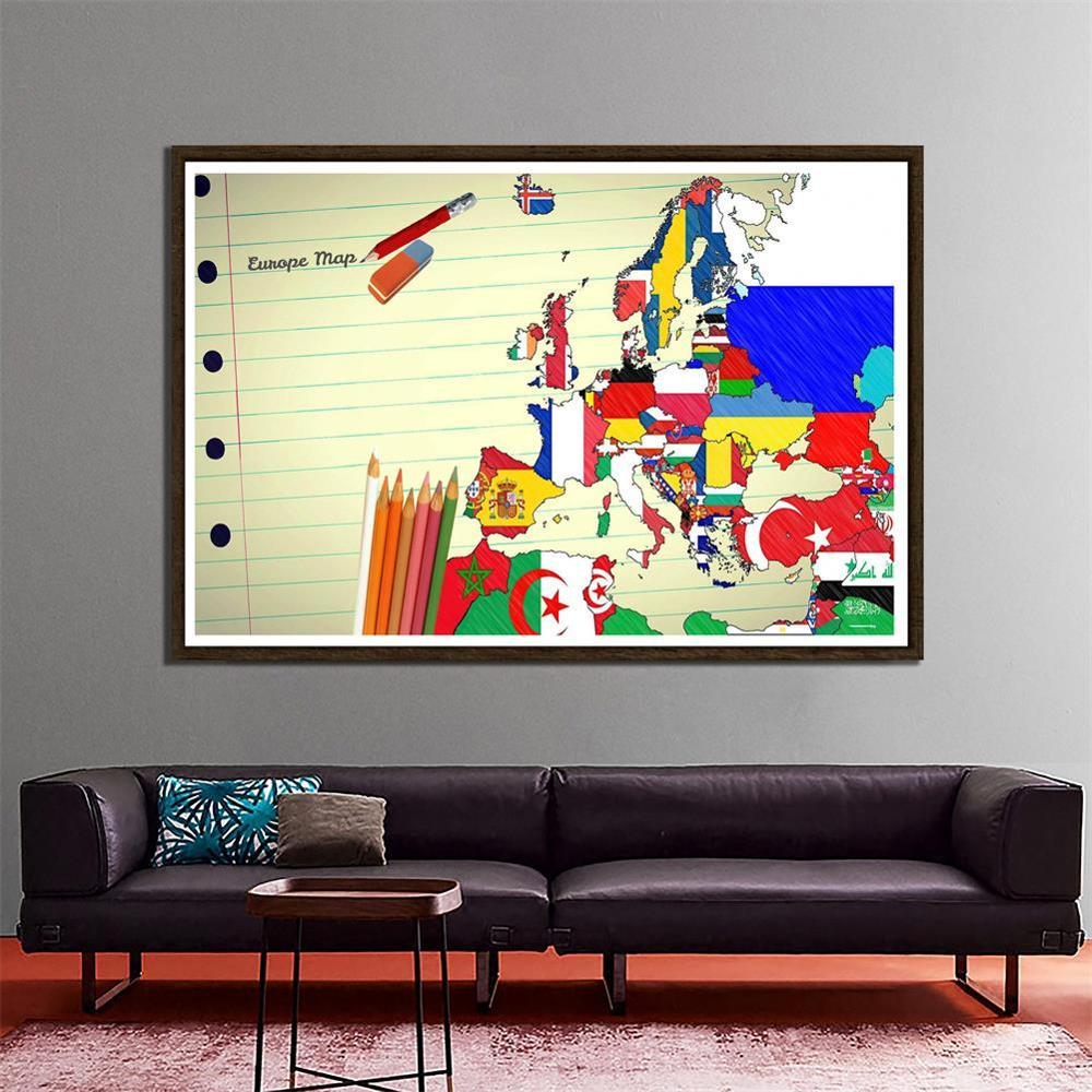 Creative European Map Desktop Wall Decoration Map 150x100cm Photography Background Cloth Photo Studio Backdrop Props