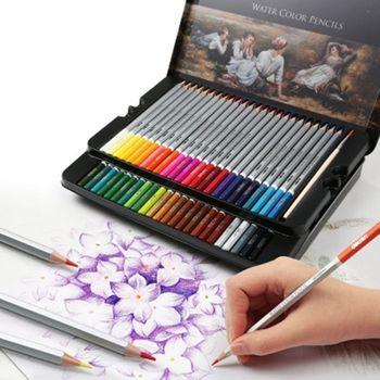 24/36/48 Colors Watercolor Pencils Set Drawing Pen Art Children Kids Painting Sketching Water Color Kit - discount item  11% OFF Art Supplies