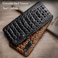 Phone Case For Xiaomi Mi 9 8 se 9T A1 A2 A3 lite Poco F1 Crocodile back texture Case For Redmi 6 6a 7 7a Note 4 5 6 7 8 Pro case