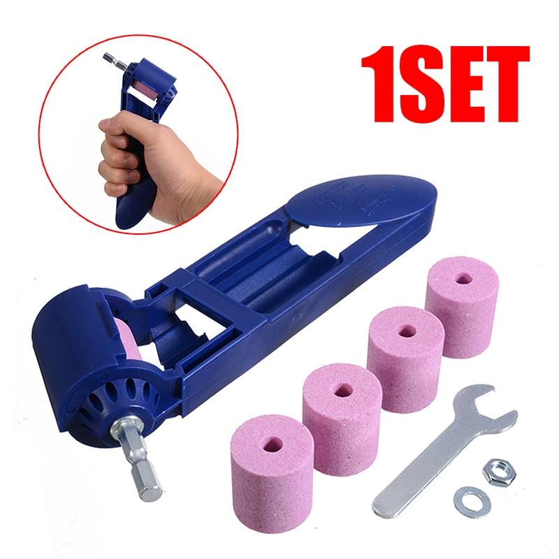 2-12.5mm Drill Bit Sharpener Portable Corundum Drill Grinder Corundum Resisting Drill Polishing Grinder Wheel Tool