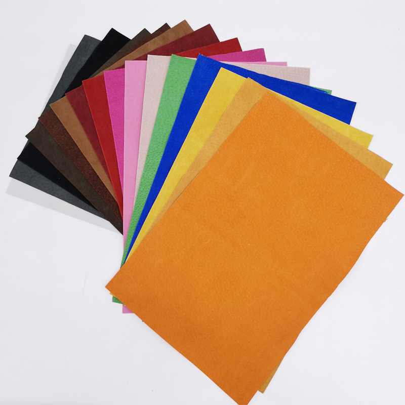 300X200X0.5mm Colorful Genuine Pig Split Lining   Suede     Leather   Material Hide Skin for Leathercraft Sewing Accessories