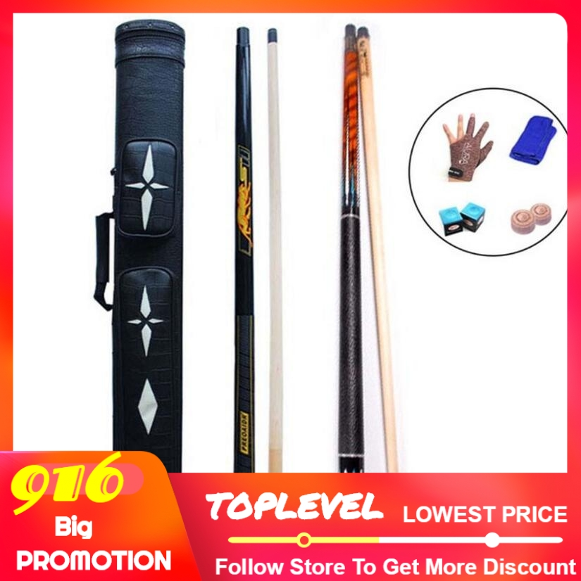3142 PREOAIDR 8K4 Billiard Pool Cues 11 5mm 12 75mm 10mm Tip 8 Pieces Wood Laminated Shaft 8K S2 Punch Jump Cue Case Glove Chalk in Snooker Billiard Cues from Sports Entertainment