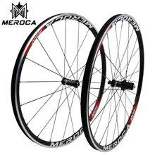 MEROCA droga rowerowa 700c zestaw do kół MX23/MX25/PRO V/C/hamulec tarczowy prosto ciągnąć 4 uszczelnione łożyska 24 otwory