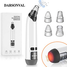 DARSONVAL Heating Blackhead Remover Vacuum Face Skin Pore Cleaner Black Dots Acne Pimple Removal Tool Beauty Skin Care Tools