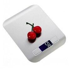 Кухонные весы из нержавеющей стали, 5 кг/1 г, электронные весы для выпечки, высокоточные электронные весы с проволокой, 10 шкал