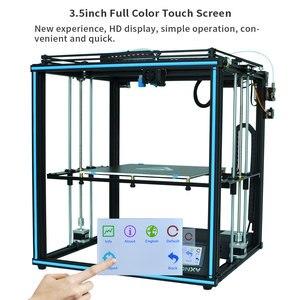 Image 2 - Tronxy ulepszony nowy X5SA 24V 3D drukarki zestawy DIY Auto poziom duży rozmiar wydruku ciepła łóżko 3d maszyna Filament drukowanie Facesheild