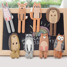 Cute Animal Fridge Magnets Sticker Multifunction Refridgerator Creative Magnet Hooks