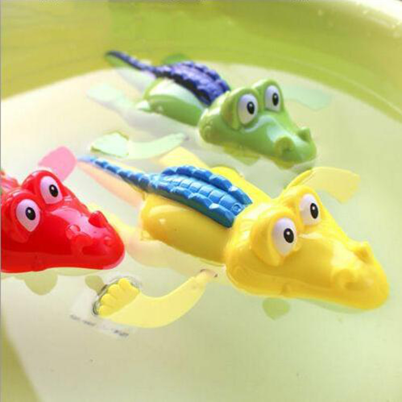 Baby Bath Swimming Toy Crocodile Wind Up Clockwork Play Educational Classic Toy For Kids Unisex Dropshipping