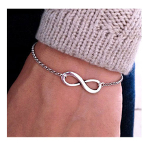 Fashion Gold-color Eight Metal Bracelet For Women Simple Design Round Circle Bracelet Wholesale New Arrival Free Shipping цена
