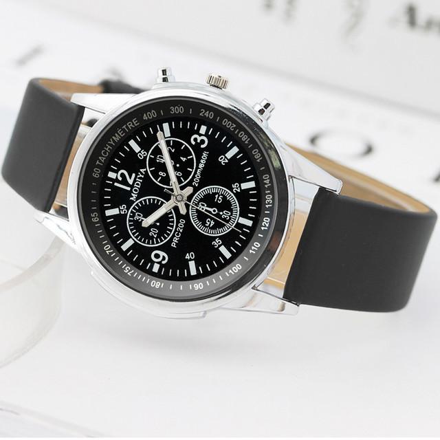 Fashion  Brand Luxury Watches Men Three Eye Watches Quartz Men's Watch Blue Glass Belt Watch Men relogio masculino часы мужские