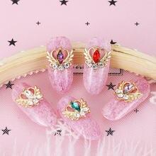 10 pçs mix aleatório 3d gemas strass unhas strass arte do prego decorações de pedra acessórios suprimentos encantos borboleta glitter