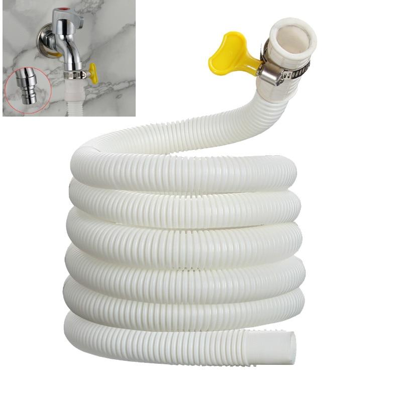 1m flexível mangueira de drenagem ar condicionado universal tubo extensão entrada água para máquina lavar roupa torneira do banheiro acessórios