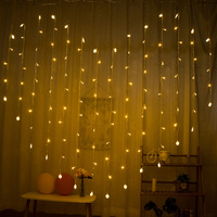 LED String Lights Heart Color Lighting Chain Heart Shape Curtain Lights Proposal Confession Decorative Lights Creative Room Star