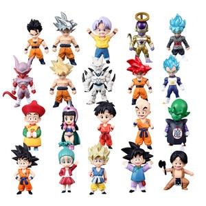 1pcs/lot Mini Dragon Ball Z Super Saiyan Son Gohan Goku figure dragonball Figurine trunks vegeta chichi lazuli freeza toys(China)