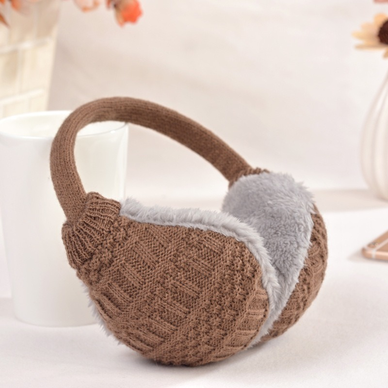 New Style Winter Earmuffs For Women Warm Unisex Ear Muffs Winter Ear Cover Knitted Plush Winter Ear Warmers Free Shipping -80