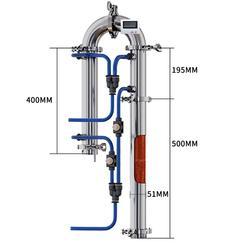 Rohr destillation spalte mit kupfer net alkohol produktion zu hause gebraut brandy wodka whisky moonshine destilliertem ausrüstung